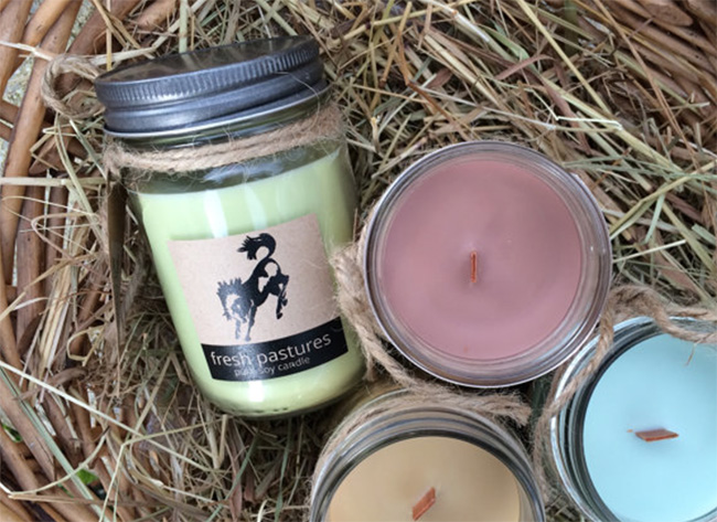 Mod Country Home horse scented candles