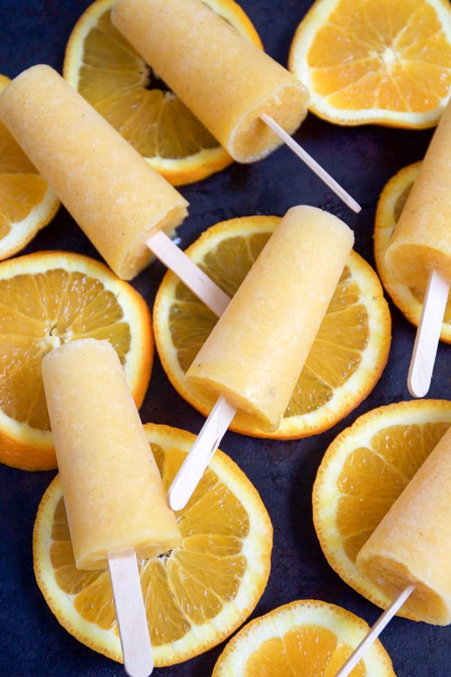 Orange vanilla bean creamsicles, healthy and vegan friendly