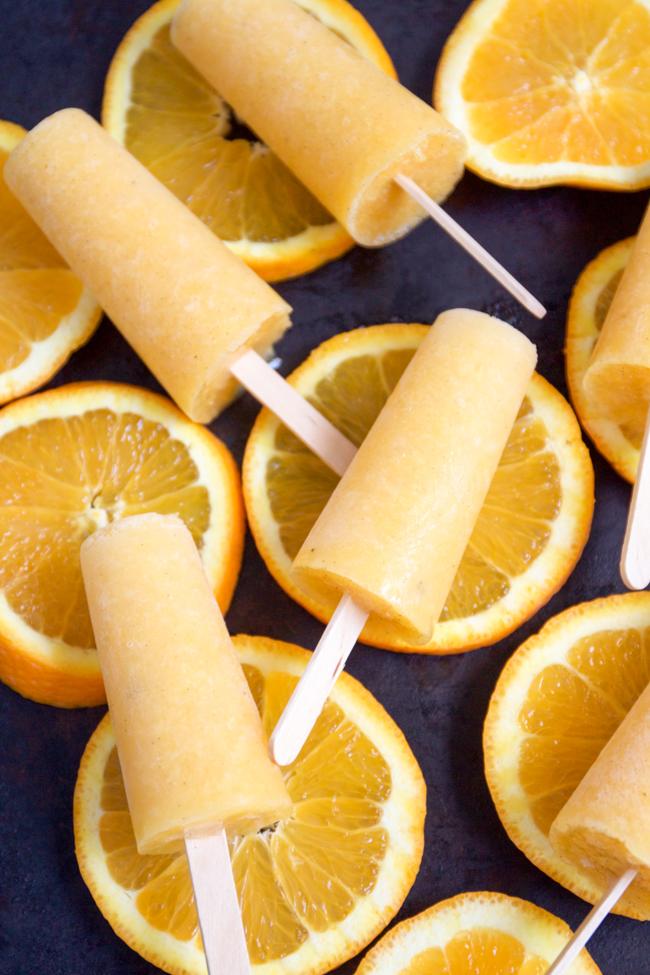 Orange vanilla bean creamsicles vegan friendly