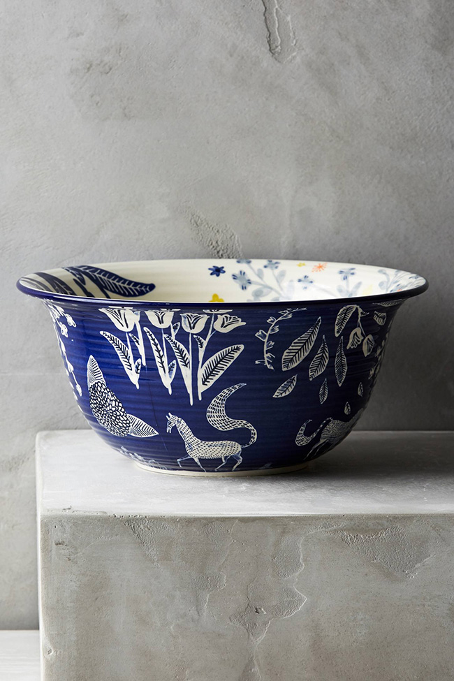 Saga horse cereal bowl