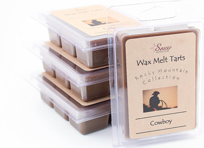 Western wax melts, cowboy scented