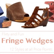 Fun and flirty fringe wedges for spring and summer