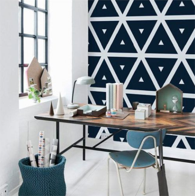 Geometric peel and stick wallpaper