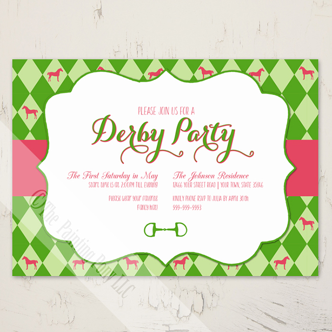 equestrian party invitations for spring | horses & heels, Party invitations
