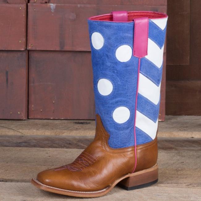 Macie Bean Periwinkle kids boots