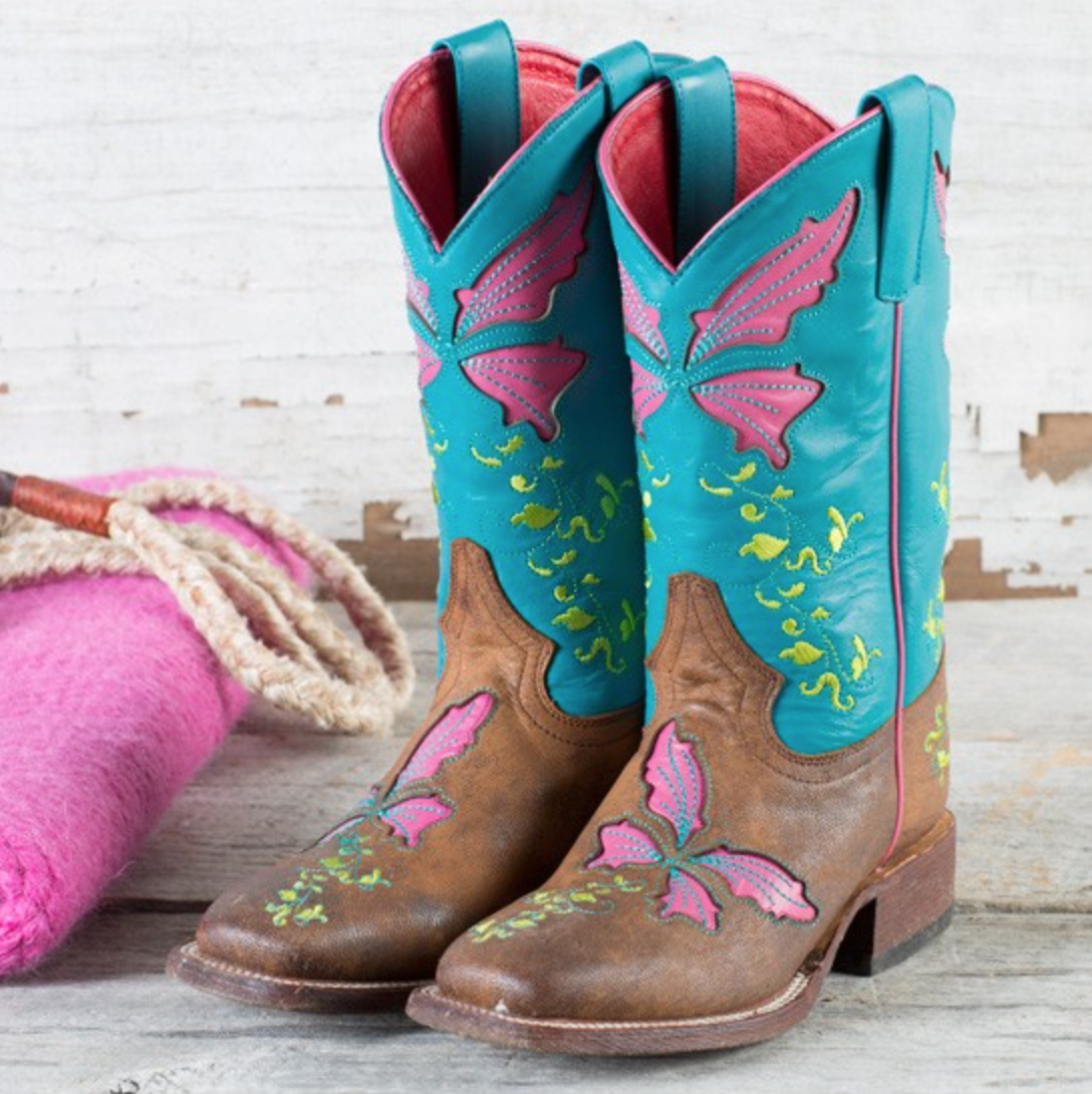 3 Colorful Pairs of Kid's Cowboy Boots