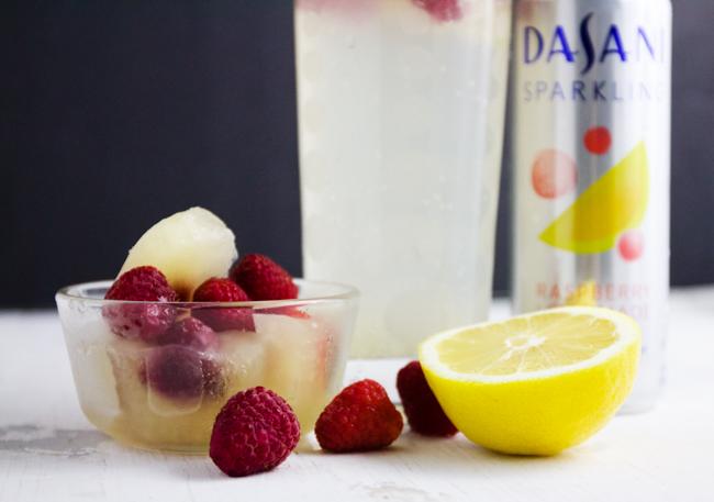 Raspberry lemonade cubes
