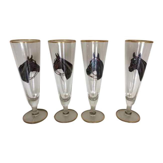 Vintage horse head glasses