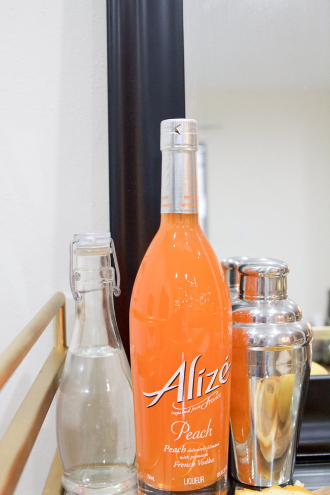 Alizé Peach for making cocktails on the bar cart