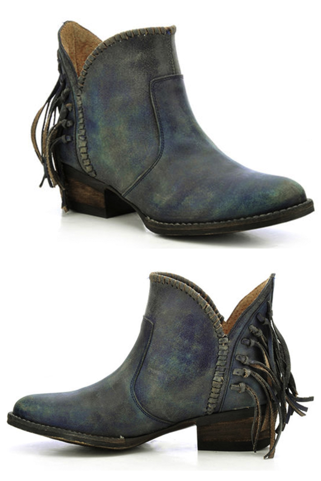 Corral Circle G blue jean ankle boot
