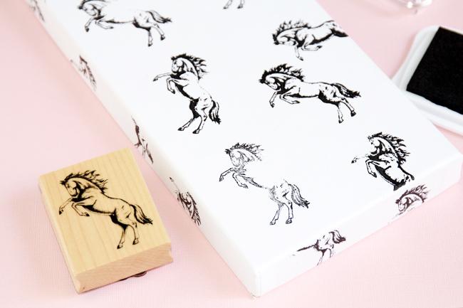 DIY Horse Print Boxes