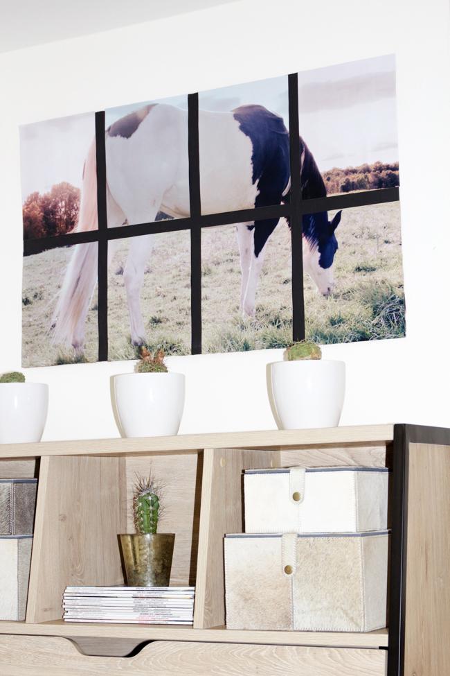 Oversized tiled horse art for the home