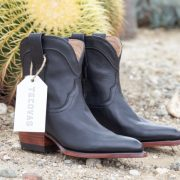 Tecovas Penny roper style boots in midnight calf