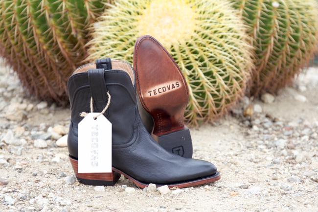 Tecovas roper style boots in midnight calf