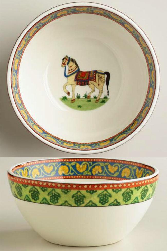 World Market Voyage Horse Bowls  sc 1 st  Horses u0026 Heels & 3 Equestrian Dinnerware Collections | Horses u0026 Heels