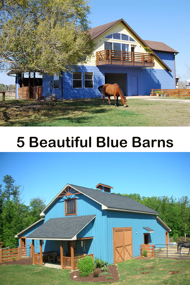 5 Beautiful Blue Barns
