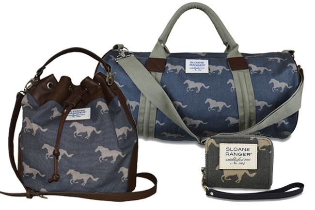 Blue & Grey Horse Print Bags for Everyone