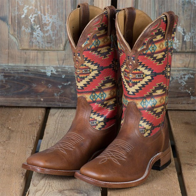 Boulet Boots with navajo print