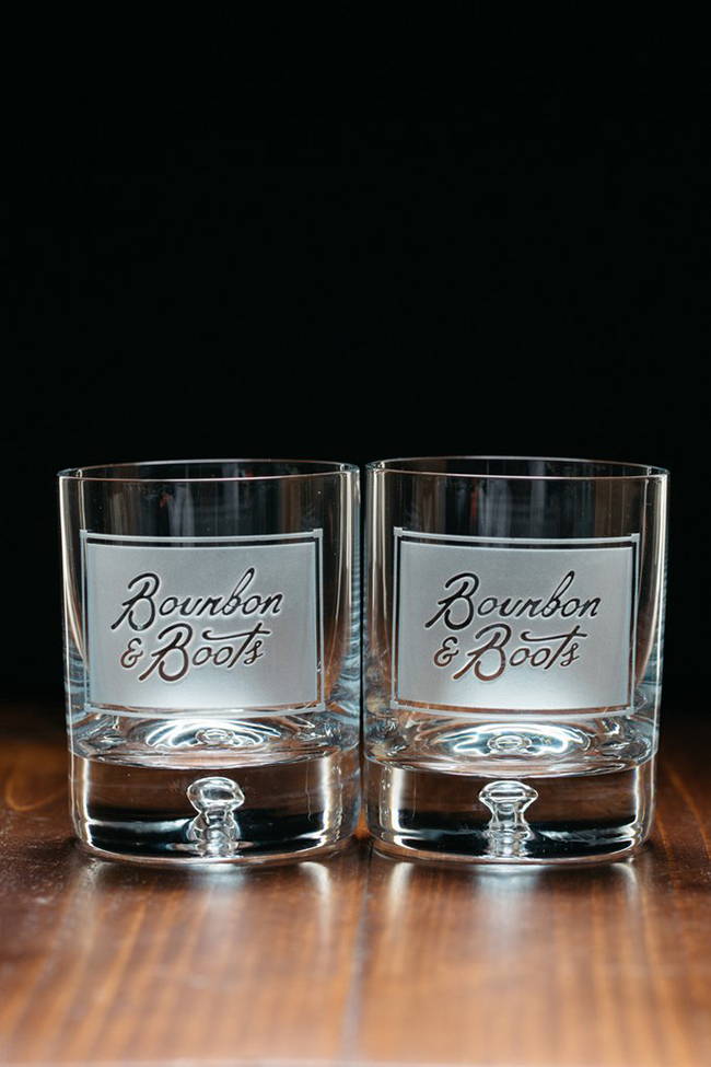 Bourbon and Boots drinkware