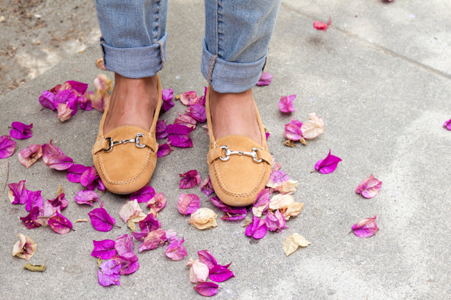 Carrie horse bit loafers in camel, equestrian chic style