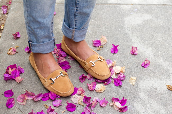 Carrie horse bit loafers in camel, equestrian chic