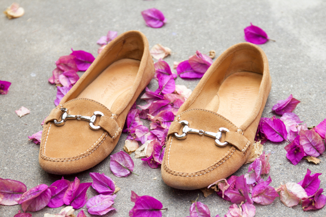 Carrie horse bit loafers in camel