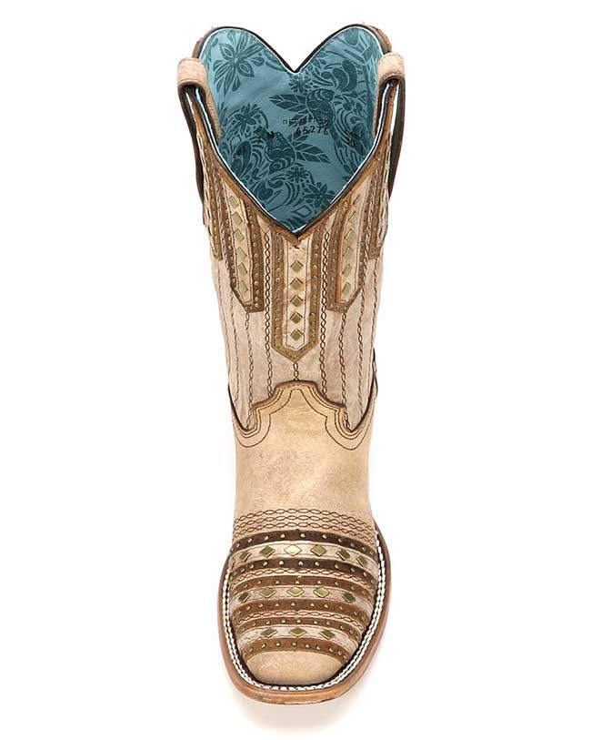 Corral square toe stud boots