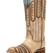 Corral square toe tan cowboy boots