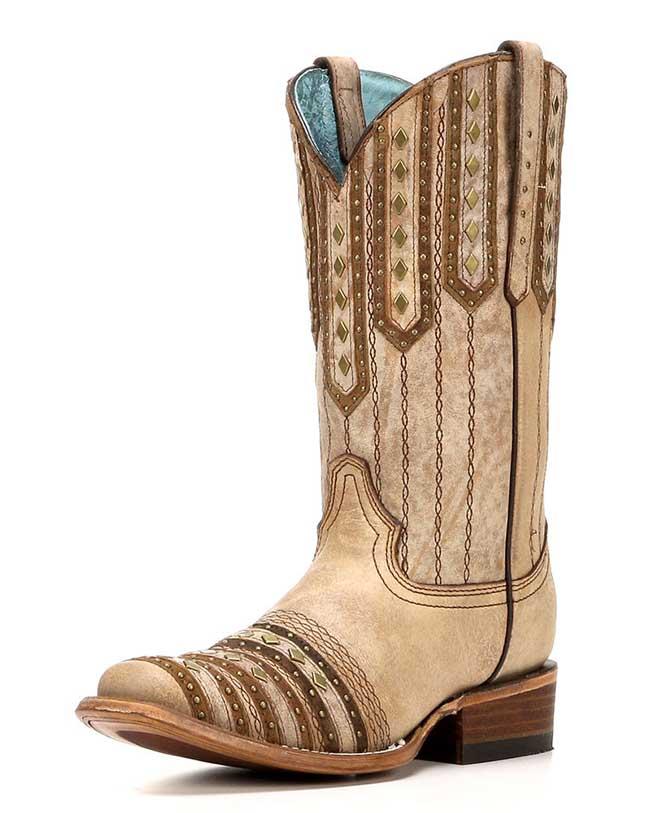 Corral Tan Square Toe Boots