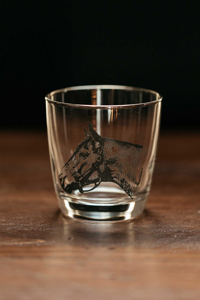 Seabiscuit old fashioned tapered glasses