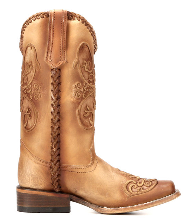 Corral Embroidered Square Toe Boots