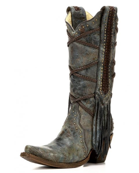 Corral distressed leather cowboy boot