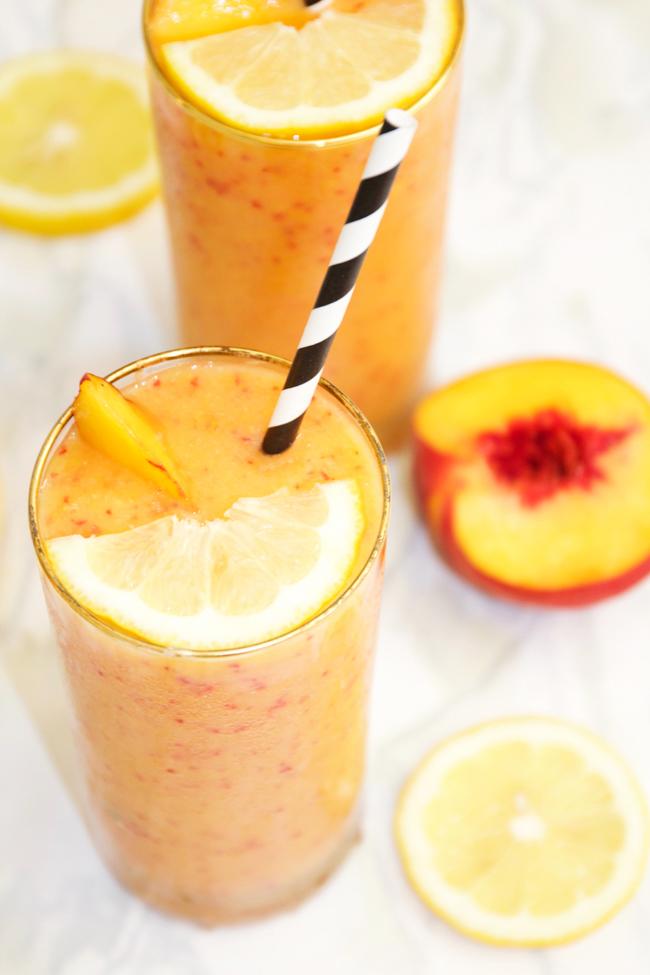 Frozen peach blender lemonade