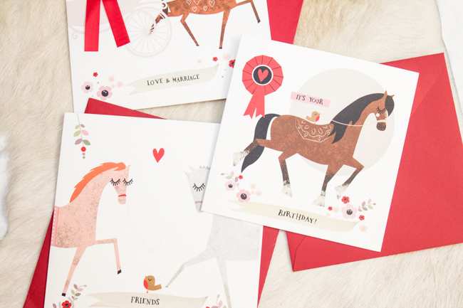 Sweet equestrian themed cards from Wo Ma Like
