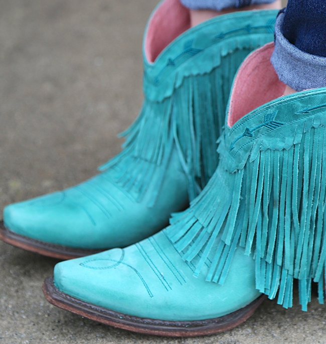 Junk Gypsy Spitfire Turquoise Boots | Horses & Heels