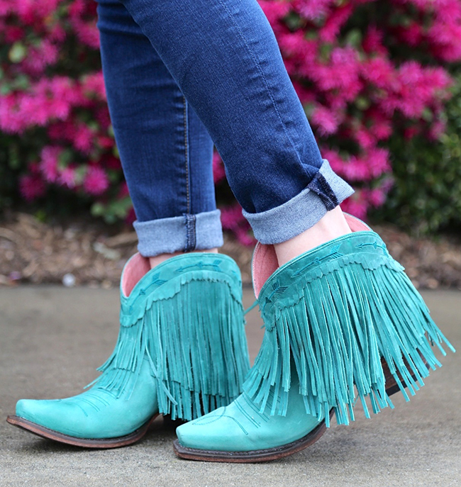 Junk Gypsy by Lane turquoise fringe boots