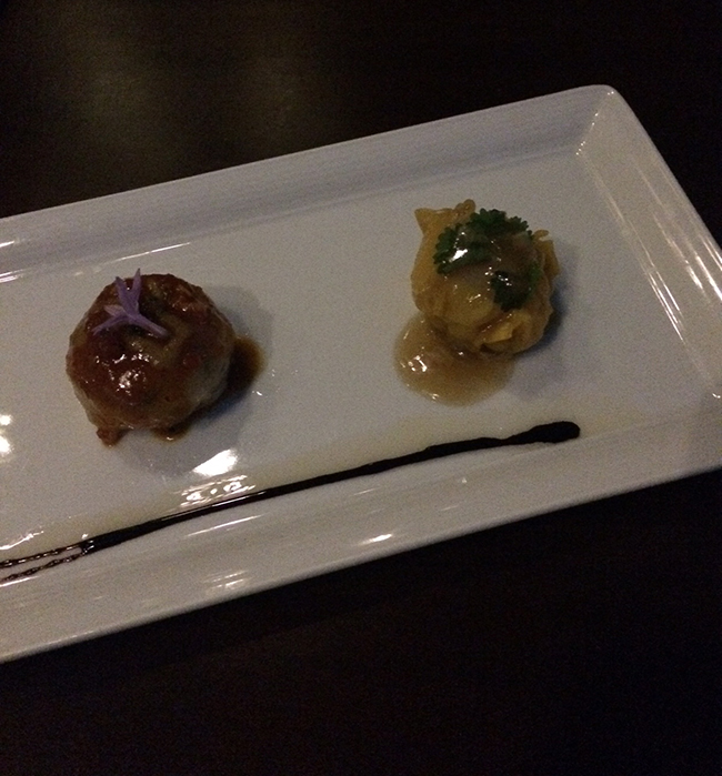 dumpling appetizers at WP24