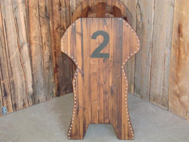 western saddle rack