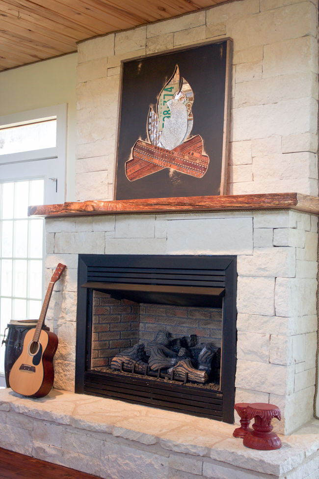 DIY art over the mantle