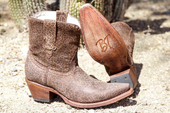 Broken T Chaney leopard print cowboy boots