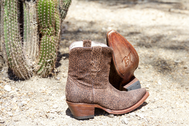 Broken T Chaney leopard print shortie boots