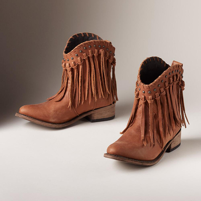 3 Pairs of Basic Brown Cowboy Boots for Fall