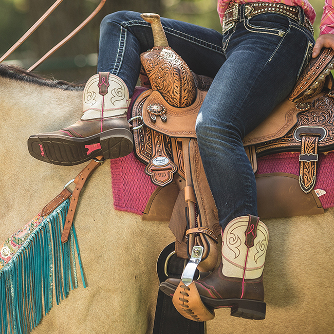 BootDaddy Ariat Pink Ribbon Power Boots