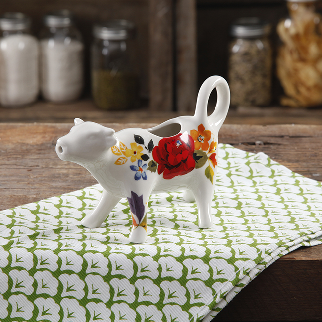 Pioneer Woman harvest timeless floral cow creamer