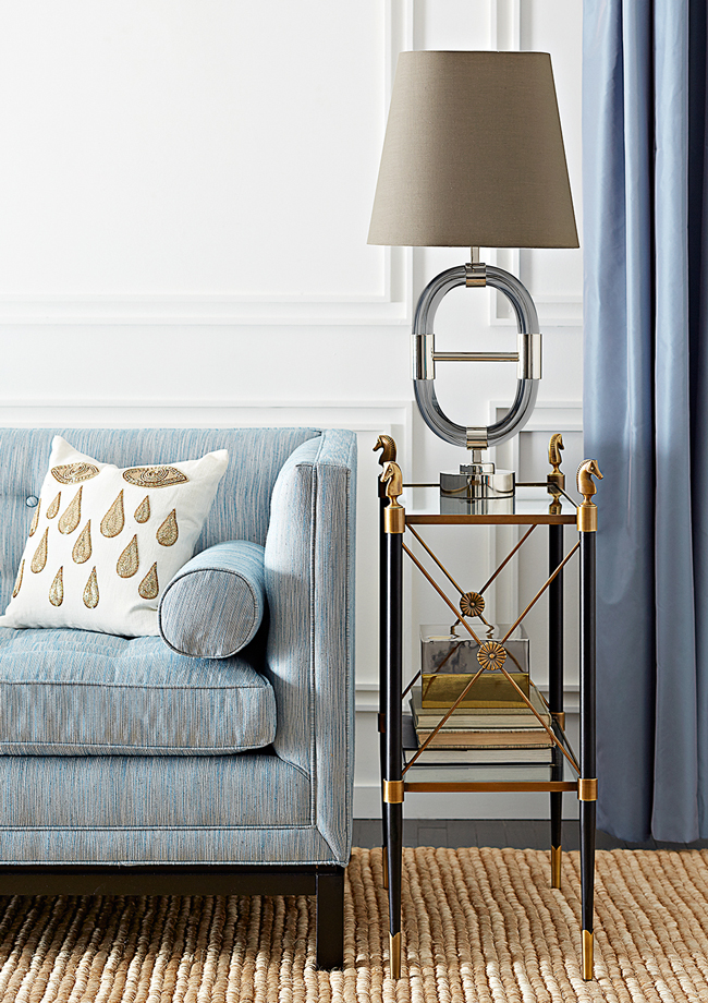 Rider two tier side table by Jonathan Adler