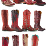12 Pairs of Red Cowboy Boots