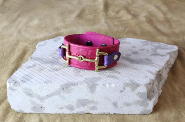 horse bit leather cuff