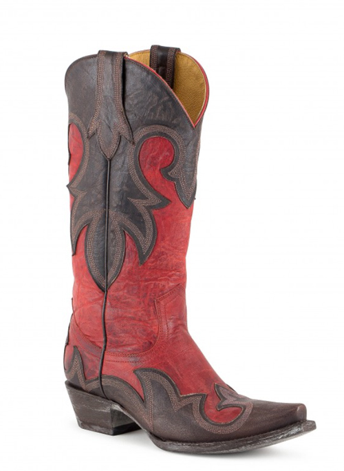 red and black Old Gringo boots