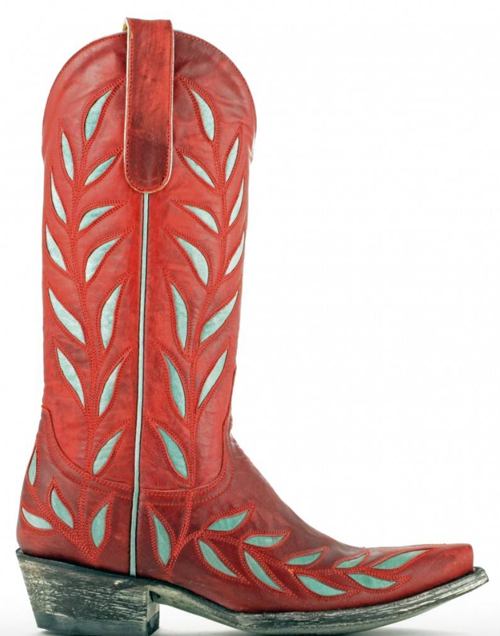 red and turquoise Old Gringo boots