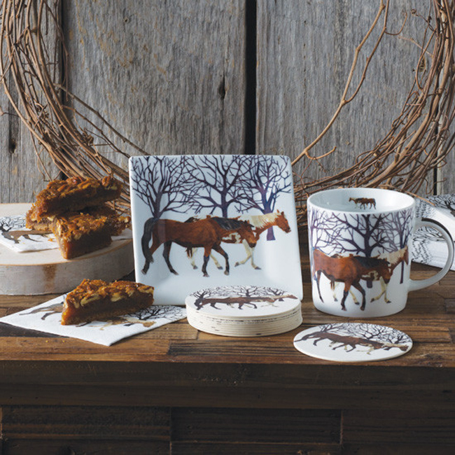 winter horses dinner collection